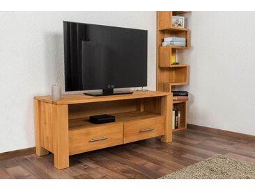 TV - Unterschrank Wooden Nature 125 Kernbuche massiv - 48 x 116 x 45 cm (H x B x T)