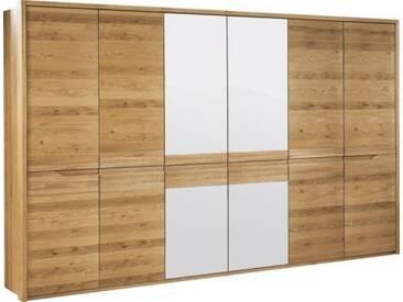 Schrank Kyme Wildeiche natur 52, teilmassiv - 209 x 305 x 63 cm (H x B x T)