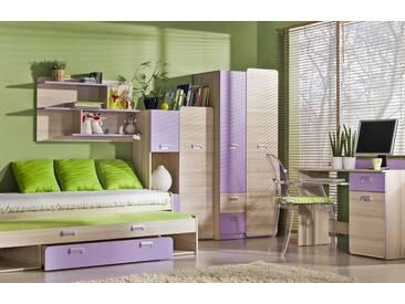 Jugendzimmer Komplett   Set E Dennis, 5 Teilig, Farbe: Esche Lila