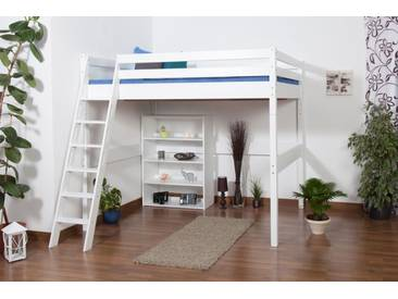 Etagenbett Kinder 140x200 : Etagenbett weiß mit leiter echtholz hochbett für kinder u ac