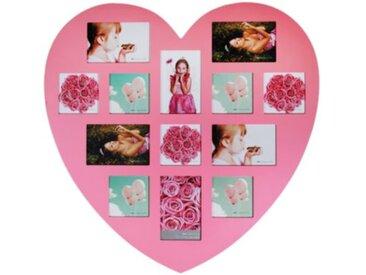 """Collagen-Bilderrahmen """"Big Heart"""" rosa"""