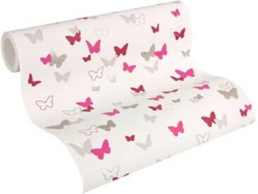 Vliestapete Esprit Kids 5, Schmetterlinge, pink/rot/beige, 10,05 m x 53 cm