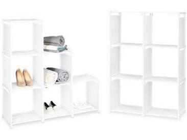 2er-Set Stufenregal weiß
