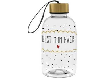 ppd Kunststoff-Trinkflasche Best Mom Ever, 550ml schwarz/weiß