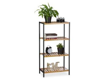 Bambus & Metall Regal 97x 50x27 cm natur
