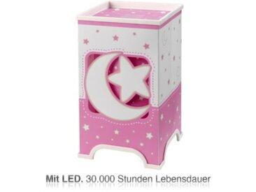 Dalber LED Nachttischlampe Mond & Sterne, rosa/weiß