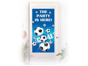 Procos Türposter Fußball 76 x 152 cm blau