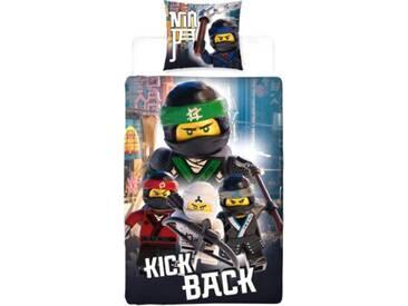 Wende- Kinderbettwäsche LEGO Ninjago Movie, Flanell, 135 x 200 cm mehrfarbig