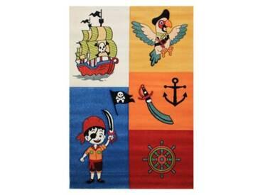 Impression Kinderteppich Rhapsody Lustiger Pirat, mehrfarbig, 200 x 290 cm
