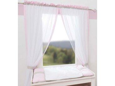 Be Be's Collection Gardinen Set Prinzessin, je 150 x 100 cm (2 Schals) rosa