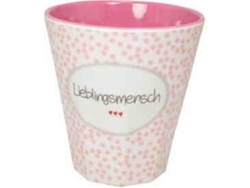 MEA LIVING Melamin Trinkbecher Lieblingsmensch 250ml rosa