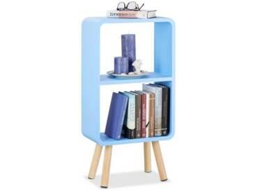 Standregal Retro mit 2 Fächern 78x40x20 cm blau