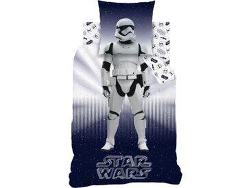CTI Wende- Kinderbettwäsche Star Wars Stormtrooper, 135 x 200 cm blau