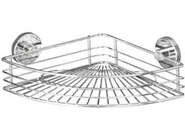 WENKO Vacuum-Loc® Eckablage Bari, Befestigen ohne bohren silber