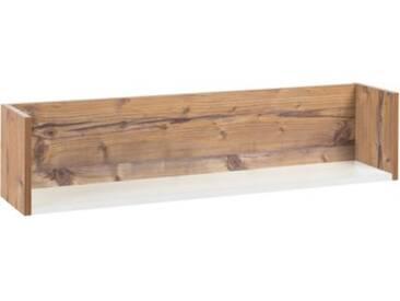 Schardt Wandregal Timber, weiß/grau lackiert, Holzdekor Bramberg Fichte