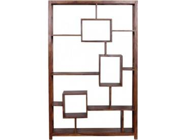 Sheesham Regal Cube Massivholz, 115x180 cm braun