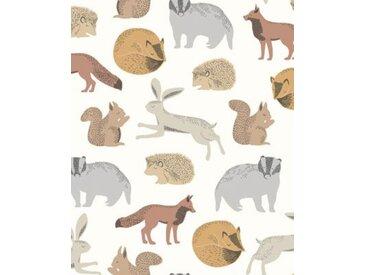 Vliestapete Eijffinger MINI ME, Tiere, braun, 10 m x 52 cm