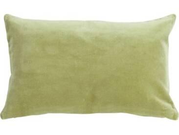 Linen & More Kissenhülle Velvet Chambray Samt 30x50 cm hellgrün