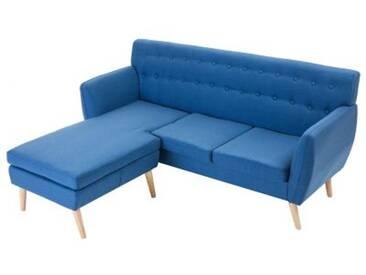 HOMCOM Polstersofa in L-Form blau