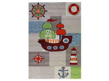Impression Kinderteppich Rhapsody Piratenschiff, creme, 120 x 170 cm