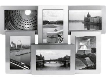 """Wandgalerie Bilderrahmen """"Portland"""" 6 Fotos silber  Erwachsene"""