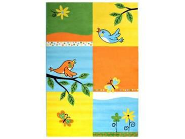 Impression Kinderteppich Bambino Vögel und Blumen, gelb, 120 x 170