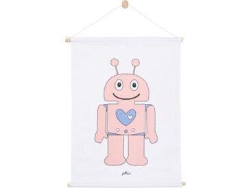 Jollein Poster Robot, pink, 42 x 60 cm