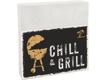 Contento Serviettenhalter Easy Chill & Grill inkl. 50 Servietten schwarz