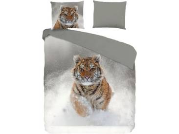 good morning BEDLINENS Bettwäsche Snow Tiger mehrfarbig