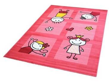 Impression Kinderteppich Bambino Spielende Kinder, pink, 120 x 170