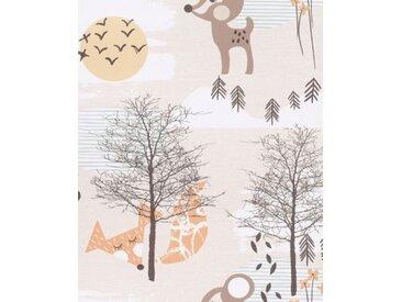 Vliestapete Eijffinger TOUT PETIT, Waldtiere, beige, 10 m x 52 cm