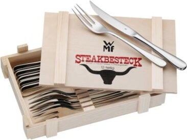 WMF 12-tlg. Steakbesteck Set in Holzkiste silber