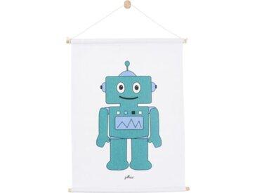Jollein Poster Robot, petrol, 42 x 60 cm
