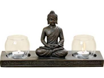 Windlichthalter Buddha L32 cm braun