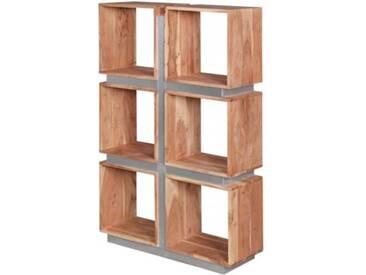Massivholz Bücherregal, H135 x B85 x T30 cm natur