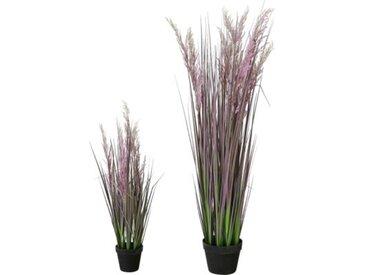 "Kunstpflanze ""Schilfrohr"" im Topf H80 cm lila"