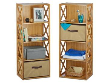 2er Standregal-Set beige