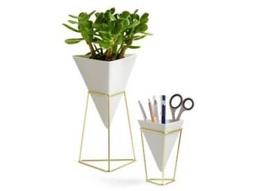 umbra 2er-Set Vase & Aufbewahrung Trigg Vessel weiß/gold