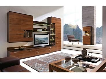 RMW Rietberger Möbelwerke Lavita / Lodano Wohnwand 36003 Nussbaum Nova / Lack braun