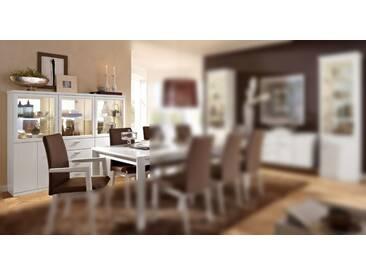 RMW Rietberger Möbelwerke Dacapo / Lexis Highboard / Vitrine 1339 Lack weiß