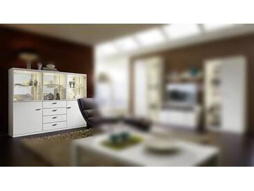 RMW Rietberger Möbelwerke Manhattan/Cremona Highboard 2726 Lack weiß
