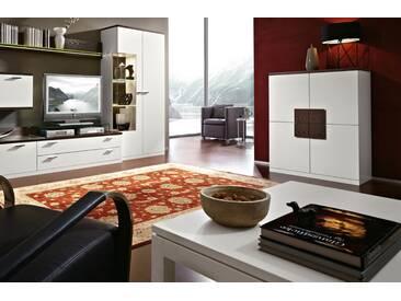 RMW Rietberger Möbelwerke Lavita / Lodano Highboard 34546 Lack weiß mit Absetzung Lack braun