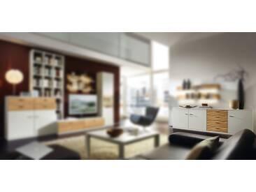 RMW Rietberger Möbelwerke Manhattan/Cremona Sideboard 21301 Lack weiß/Kernesche