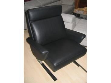 Wöstmann Leder-Sessel Leder schwarz - Ausstellungsstück - SALE