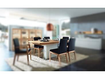 RMW Rietberger Möbelwerke Linaro/Enjoy Säulentisch 90972 Lack weiß/Kernesche 160 x 95 cm
