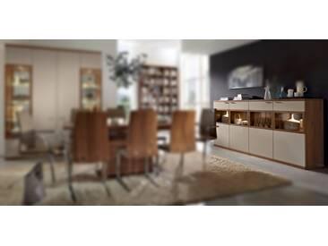 RMW Rietberger Möbelwerke Celesta/Siena Highboard 31751 Nussbaum nova/Lack crema