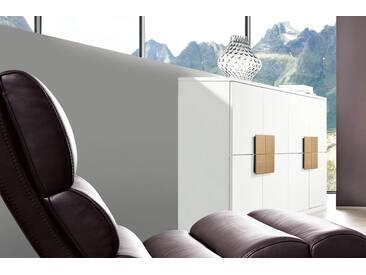 RMW Rietberger Möbelwerke Lavita / Lodano Highboard 36010 Lack weiß mit Eiche sand geschroppt