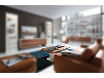 RMW Rietberger Möbelwerke Linaro/Enjoy Säulen-Couchtisch 91149 Lack weiß/Balkeneiche Bronze 120 x 75 cm