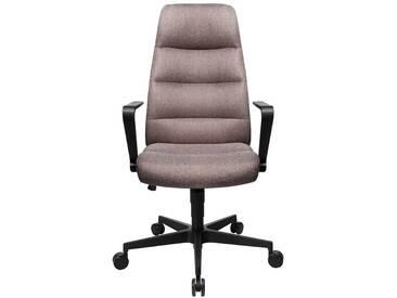 Bürodrehstuhl Chairman 70 mit Armlehnen und Fußkreuz aus Kunststoff, hellbraun