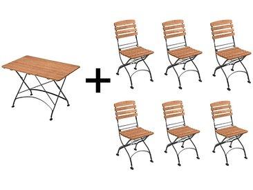 """Gartenmöbel-Set """"Maja"""" 7-teilig,Tisch 160 x 80 cm, 6 Stühle"""